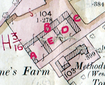 Fountaine's Farm on the 1925 rating valuation map [DV2-C26]
